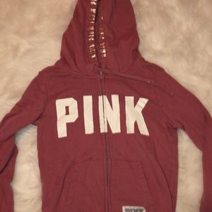 Pink sweatshirt in a mauve pink color
